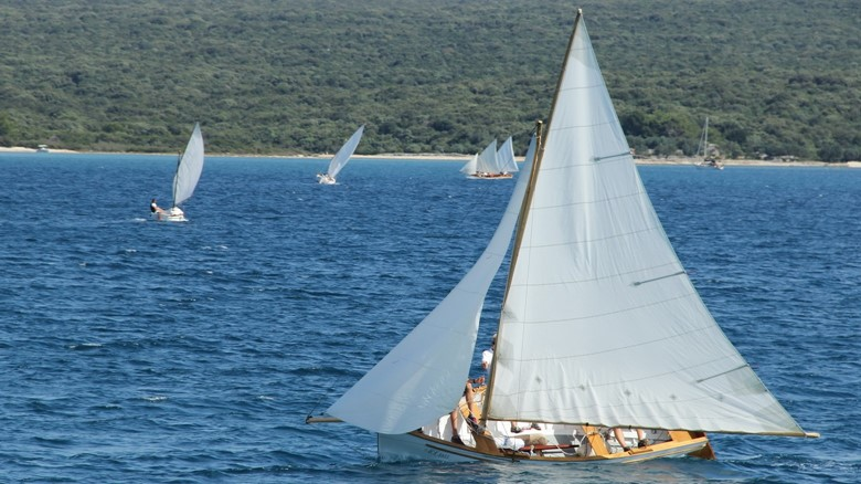 Pasara - traditional wooden sailing boat from the island of Lošinj