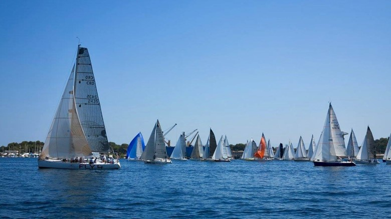 The sport of sailboat racing